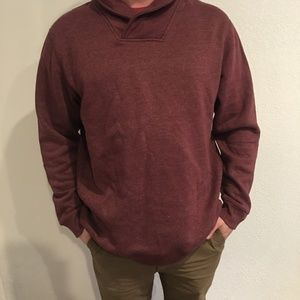 4/$20 GREAT NORTHWEST menGRAY SHAWL COLLAR FLEECE